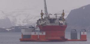 Goliat ankommer Hammerfest